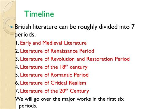 themes in british literature in the 20th century lecture four british literature ppt video online download