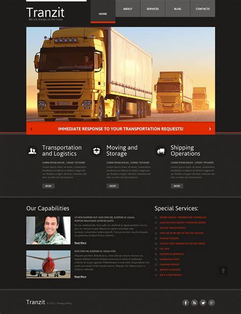 Trucking Responsive Website Template 46441 Free Trucking Website Templates