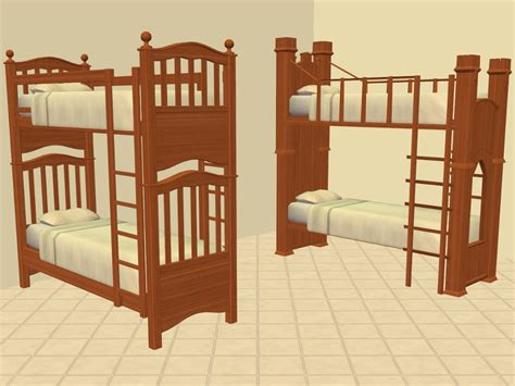sims 2 bunk beds mod the sims shaundak s ts3 ts2 converted bunk beds