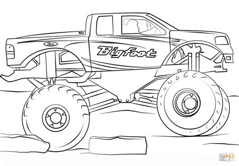 bigfoot monster truck coloring pages bigfoot monster truck coloring page free printable