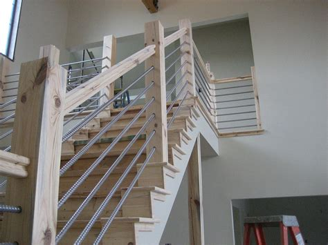diy railing hometalk building a home cable rail staircase