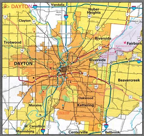 map of oregon district dayton ohio dayton ohio map my