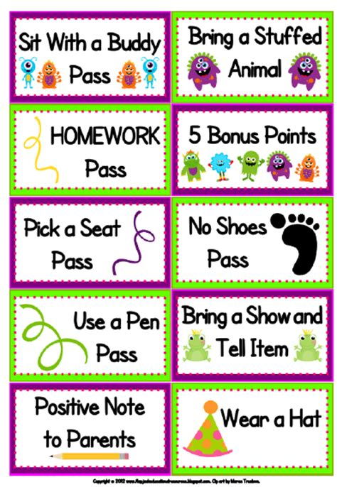 printable reward tickets classroom learning with firsties class dojo and my firsties