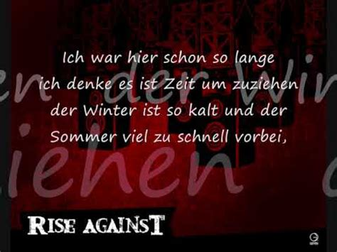 youtube swing life away rise against swing life away german lyrics youtube