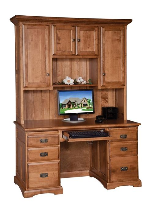 amish 55 quot computer desk with hutch