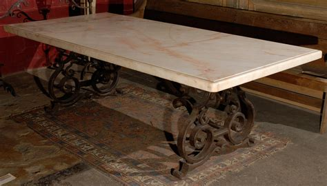 wrought iron dining table base : Awesome Dining Table