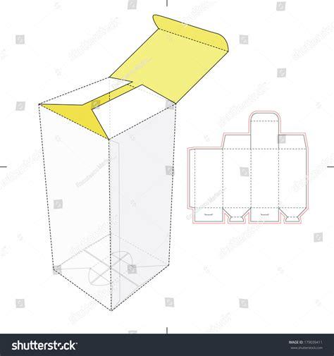 pattern cutting en francais vertical tall box diecut pattern stock vector 179039411