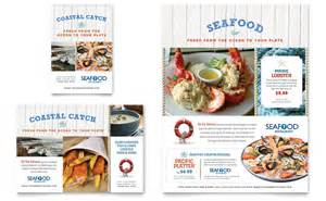 seafood restaurant flyer amp ad template word amp publisher