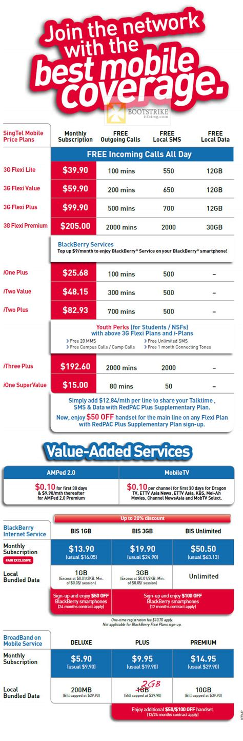 singtel mobile plans 3g flexi lite value plus premium