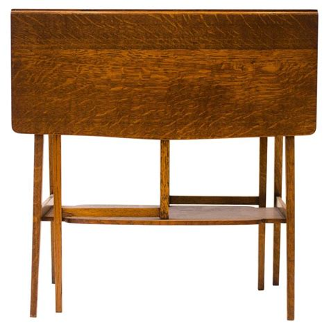 Drop Leaf Craft Table A Quality Arts And Crafts Oak Drop Leaf Side Table By Liberty And Co For Sale At 1stdibs