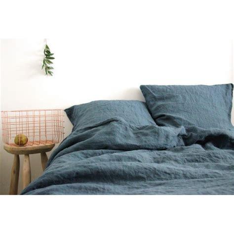 Housse De Couette Gris by Housse De Couette En Lave Bleu Gris Washed 240x220cm
