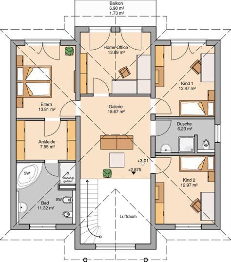 1 schlafzimmer grundrisse kern haus stadtvilla aurelio grundriss obergeschoss