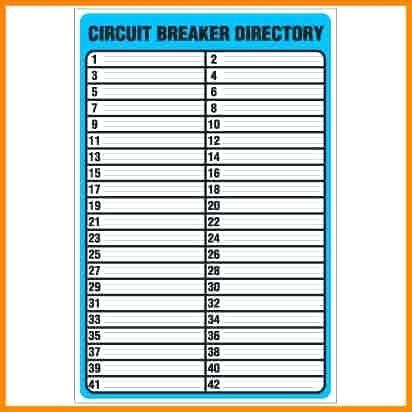 square d directory card templates circuit breaker panel labels awesome directory template of