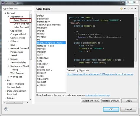 eclipse editor themes plugin eclipse color theme jar download