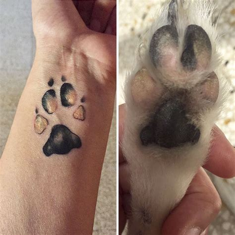 dog paw prints officially make the best tattoos ever