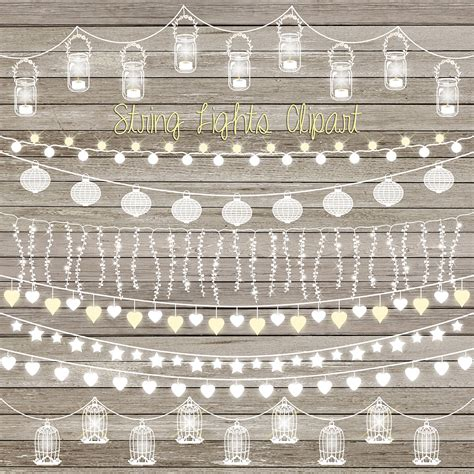 Patio Lights Vector String Lights Clip String Lights Clipart With