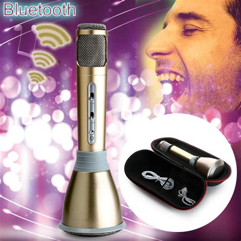 Mic Karaoke Q9 1 q9 wireless karaoke handheld microphone usb ktv player