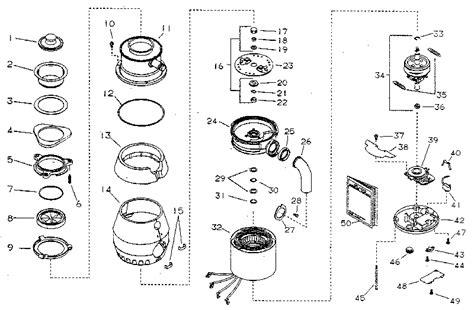 garbage disposal parts diagram kenmore kenmore disposer parts model 6045 sears