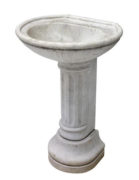 marble pedestal sink heavy carved marble sink on columnar pedestal base april estates auction day 2