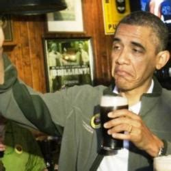 Obama Beer Meme - upvote obama meme generator