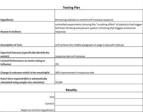 testing plan template acceptance test plan click here