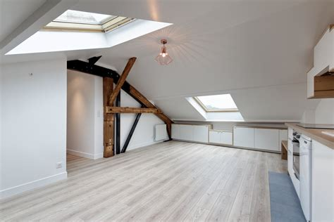 Formidable Salle De Bain Style Loft #1: Agence-Avous-architecte-intérieur-paris-Salon-Cuisine-combles-rangements-sous-pente.jpg