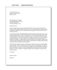 exle teaching cover letter