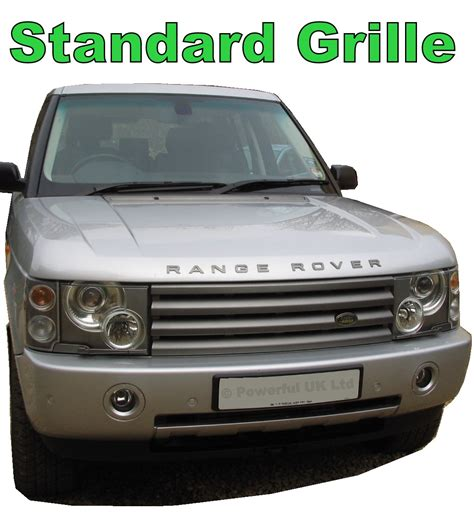 chrome land rover chrome supercharged front grille range rover l322 vogue