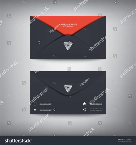 business card envelope template vector modern creative business card template in envelope shape