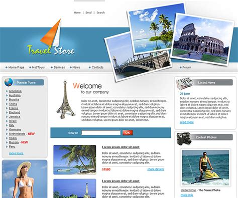 membuat website travel 10 template html gratis untuk website tour travel
