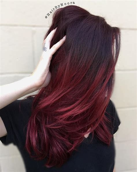 Steps To Doing Burgundy Hair With Brown And Caramel Highlights | best ombre hair color ideas for blond brown red and