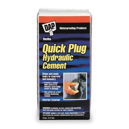 dap hydraulic cement 5 lb gray 14086 zoro