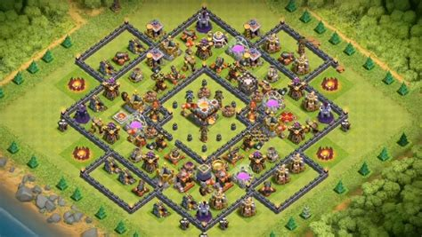 layout for town hall 10 15 anti 3 star th7 to th11 farming war base layouts for
