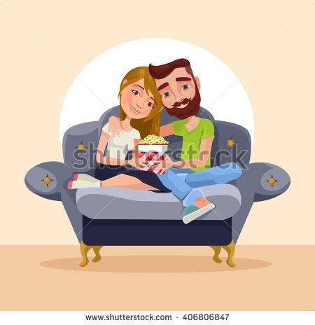 cartoon sitting on couch pretty vectors s portfolio on shutterstock