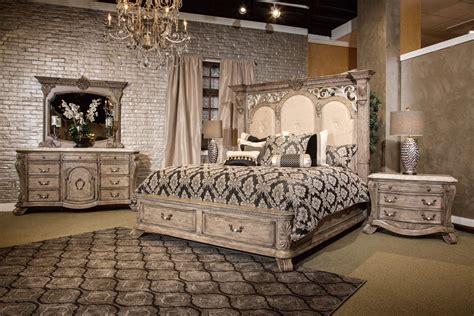 piece villa  como storage bedroom set heritage finish  michael amini usa furniture