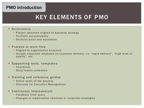 pmo terms of reference template image collections