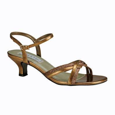 melanie bronze metallic low heel evening shoes