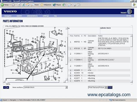 volvo truck parts catalog volvo impact 2012 spare parts catalog