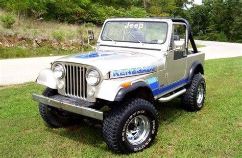 83 Jeep Cj7 83 Renegade Jeep Willys Cj 5 Renegade