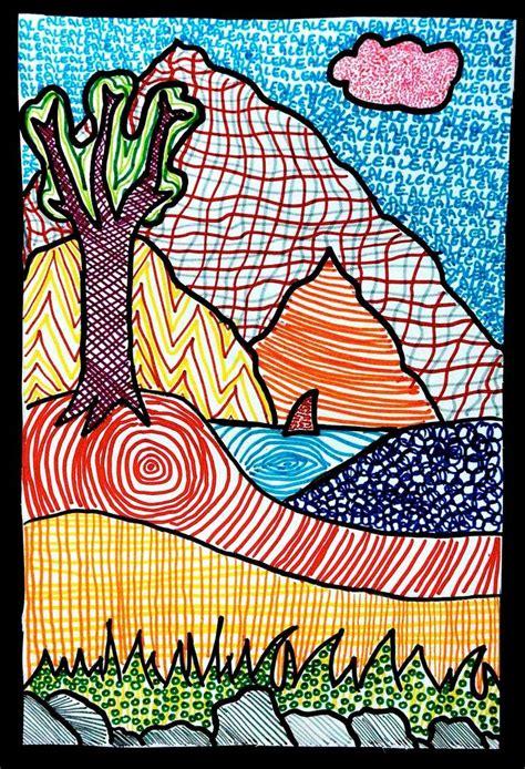 Textured Landscape Lesson Textured Landscapes Landscape Lesson Ideas