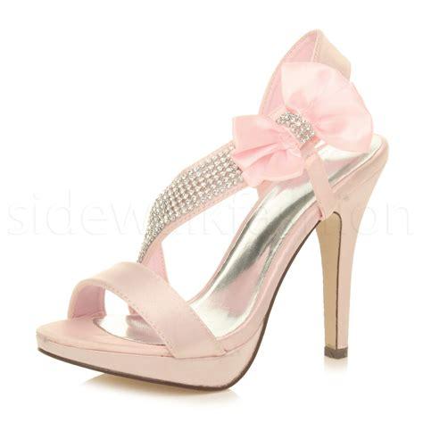 bridal high heel sandals womens wedding bridal strappy prom high heel
