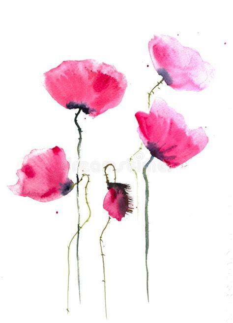 sfondi fiori stilizzati fiori stilizzati papavero illustrazione di stock