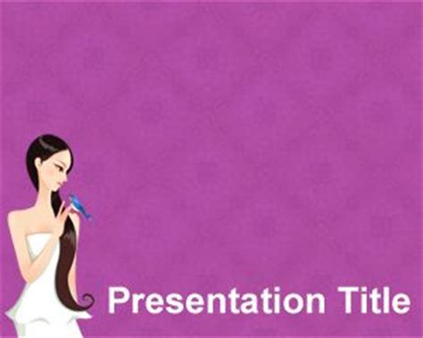 powerpoint design hair lady powerpoint template free powerpoint templates