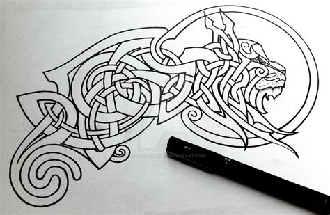 celtic lynx linework by tattoo design on deviantart