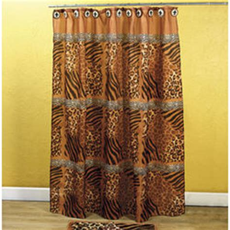 tiger print shower curtain animal print shower curtain findgift com