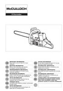 mcculloch chainsaw pro mac 72 user guide manualsonline com