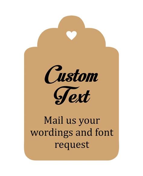 Wedding Favors Thank You Tags by Custom Made Hang Tags Personalized Wedding Favor Thank You