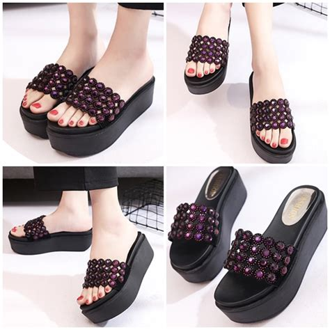 Modis Wedges jual shw222 purple sepatu wedges modis import 6cm