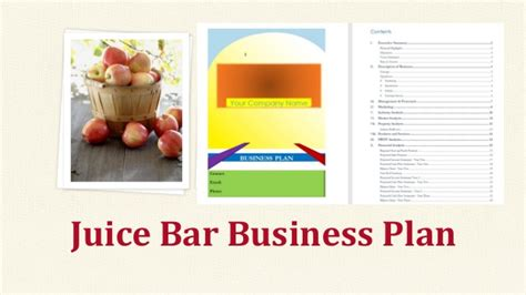 pub business plan template juice bar business plan template