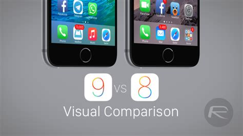 iOS 9 Beta Vs iOS 8 Visual Distinctions Contrasted
